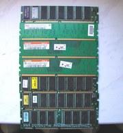 Модули памяти (DIMM) 512mb,  256mb,  266mb, 128mb,  64mb.