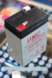 Аккумулятор(АКБ) UKC 6 вольт 4, 5 А/ч.Для весов, радио.