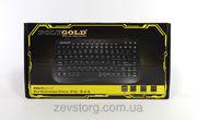 Клавиатура мультимедийная PolyGold PG-945,  USB,  черная,  мини