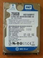 Жесткий диск 750ГБ для ноутбука (в отличном состоянии).